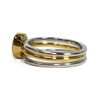 Oval Stacking Cremation Ring in 14K Yellow Gold with Two Companion Rings in Sterling Silver