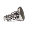 Oval Filigree Band Cremation Ring in Sterling Silver