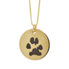 Circle Necklace with PawPrint Engraving in 14/20 Yellow-Gold Filled