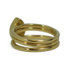 Pear Stacking Cremation Ring in 14K Yellow Gold with Two Companion Rings in 14K Yellow Gold