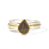 Pear Stacking Ring (Old Design) in 14K Yellow Gold, size 6