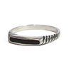 Ridged Band Cremation Ring in Sterling Silver