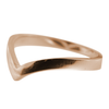 Chevron Companion Ring in 14K Rose Gold