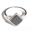 Diamond Setting Ring in Sterling Silver