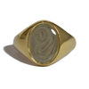Signet Cremation Ring in 14K Yellow Gold