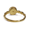 Triple Drop Accent Cremation Ring in 14k Yellow Gold