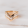 Chevron Cremation Ring in 14K Yellow Gold