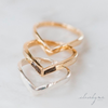 Chevron Cremation Ring in 14K Rose Gold