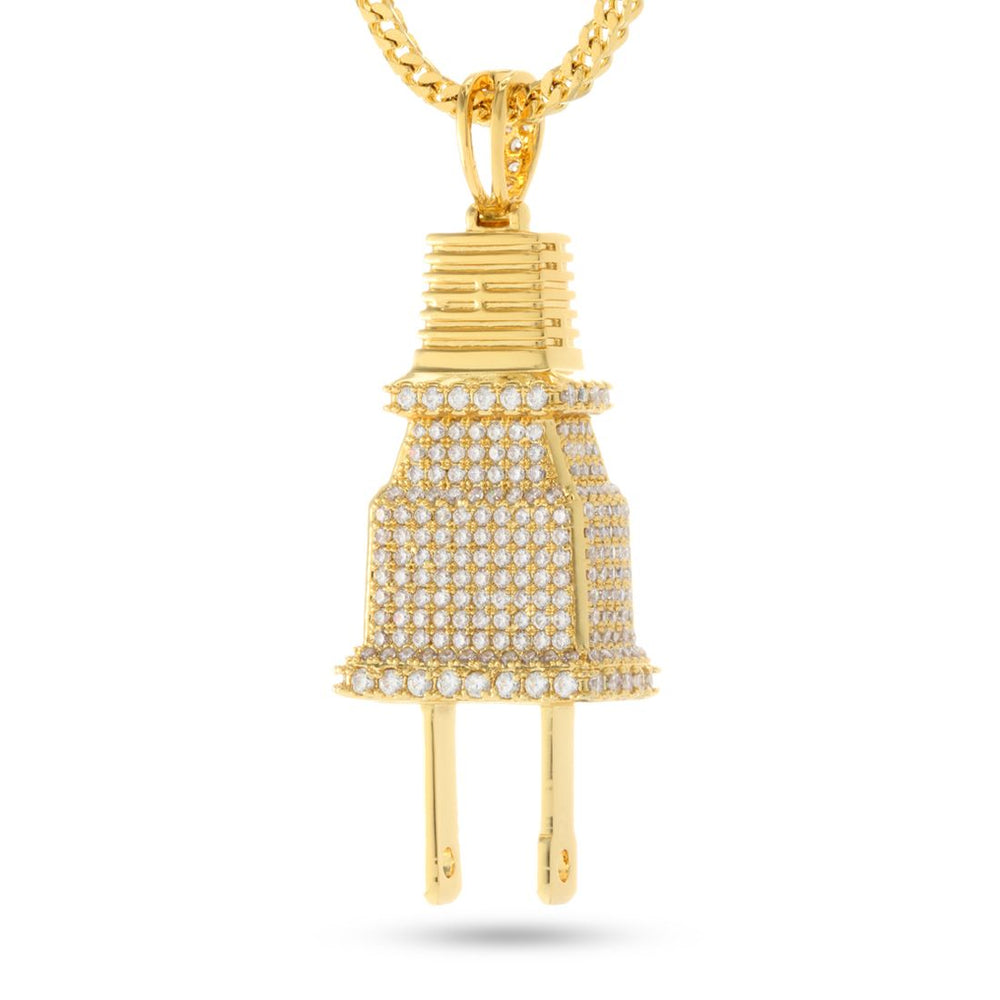 King Ice CZ Plug Necklace