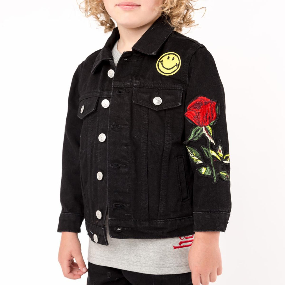 Haus of Jr Jeffery Space Patch Jacket (Black Rinse Wash)
