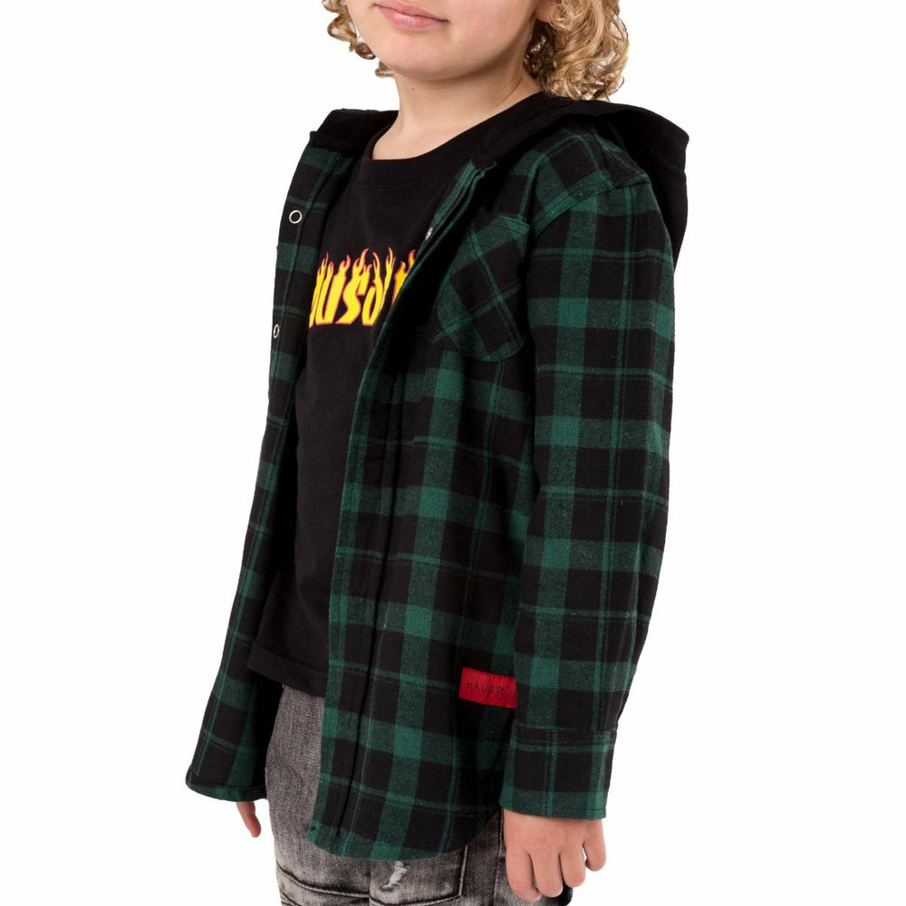 Haus of Jr JWyatt George Hooded Flannel (Black)