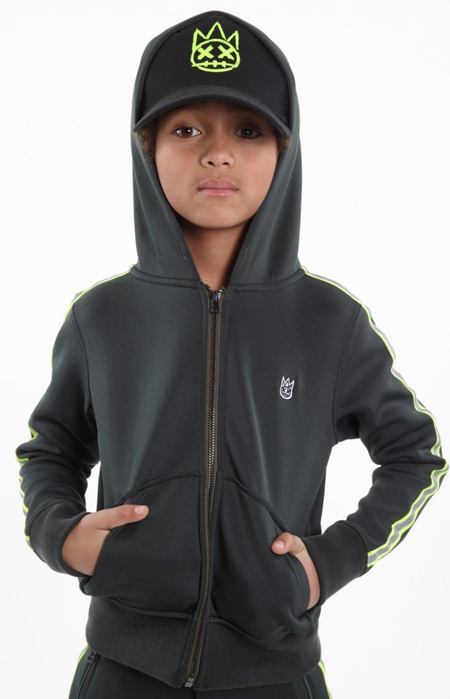 Cult of Individuality Kids Scuba Stripe Hoody (Hunter Green)