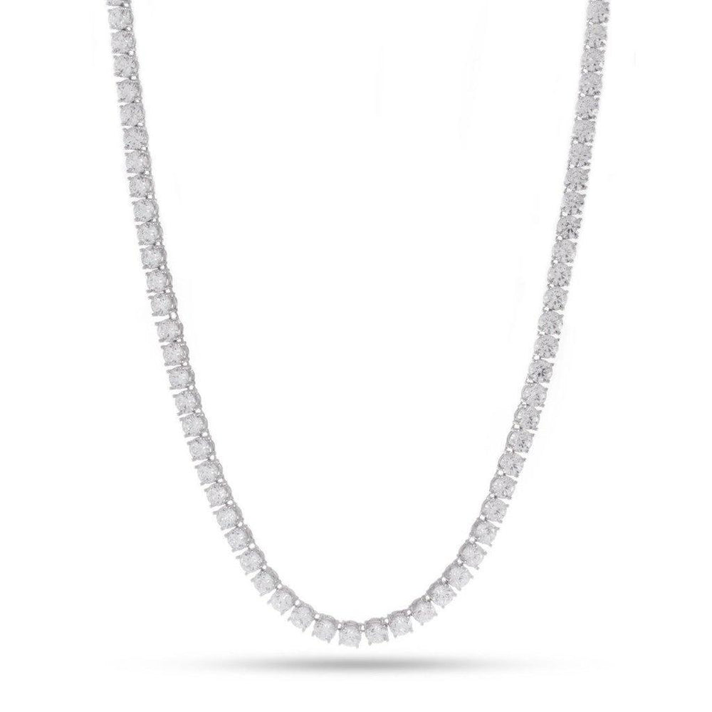 King Ice 5mm White Gold Single Row CZ Tennis Chain