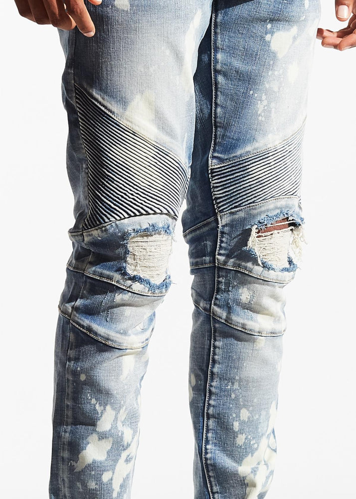 Crysp Skywalker Biker Denim (Blue Bleach)