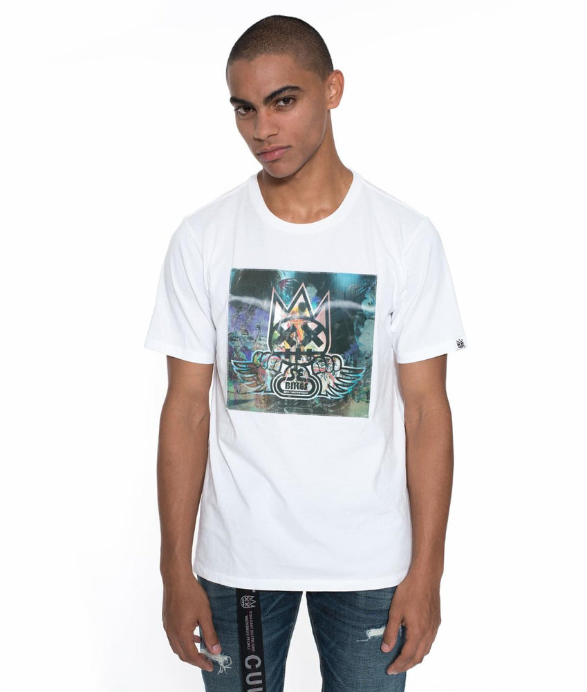 Cult of Individuality SE Bikes Hologram Crew Neck T-Shirt (White)