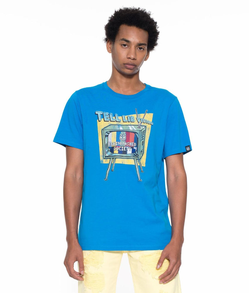 Cult of Individuality Brainwashed Youth Crew Neck T-Shirt (Blue)