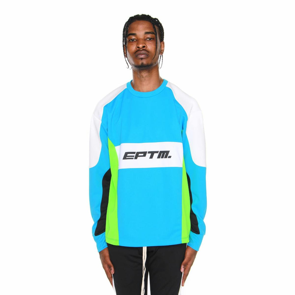 EPTM Motocross Color Block LS Tee (Turquoise)