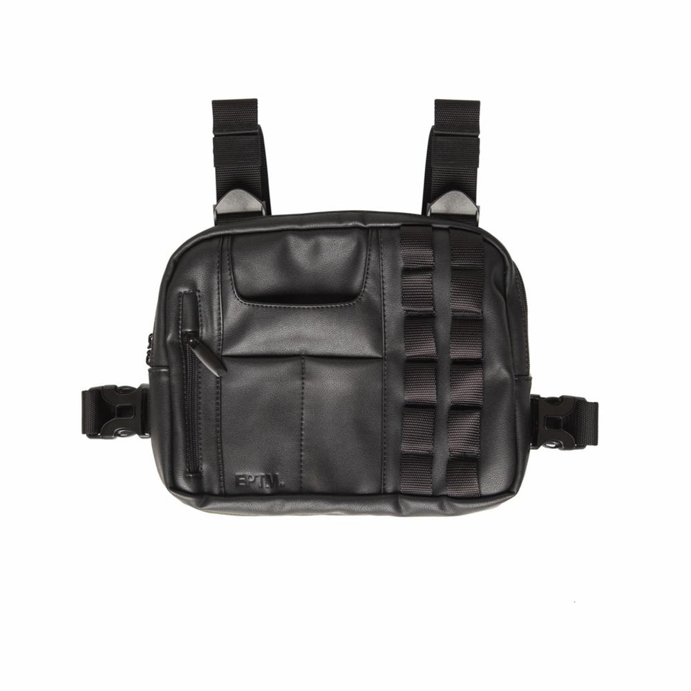 EPTM Vegan Leather Chest Bag (Black)