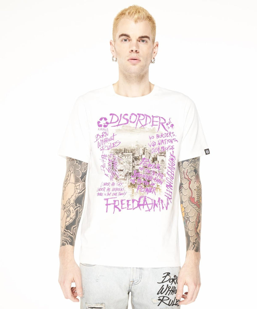 "Cult of Individuality ""Disorder"" Crew Neck T-Shirt (White)"