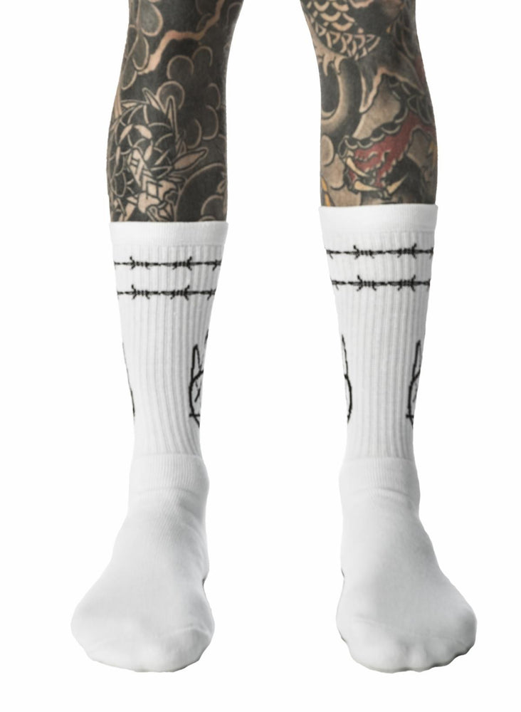 Cult of Individuality Shimuchan 'F*CK OFF' Socks (White)