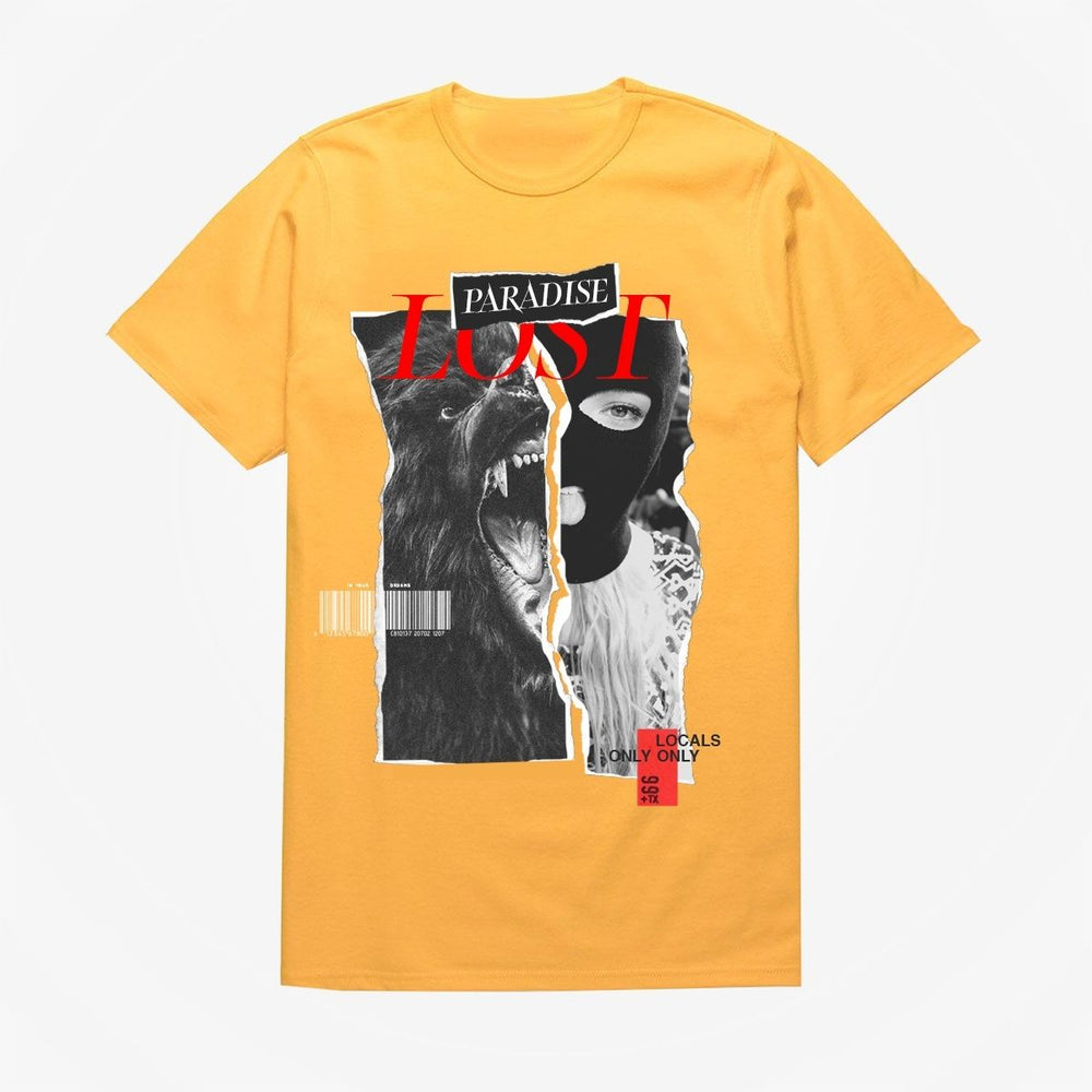 Paradise Lost Split Tee (Gold)