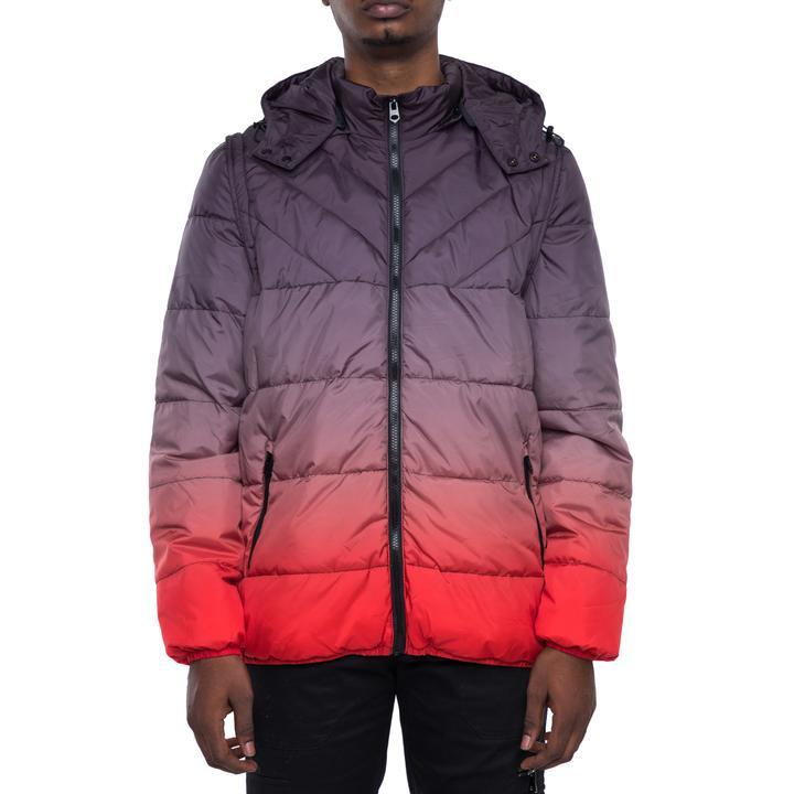 EPTM Gradient Padding Coat (Black/Red)