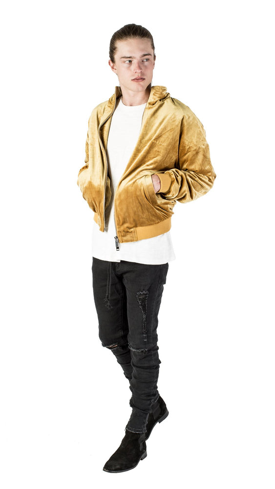Mechali Velour Jacket (Mustard Yellow)