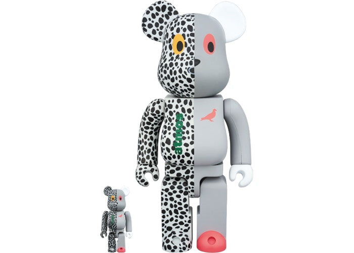 Bearbrick x Atmos x Staple Set Grey