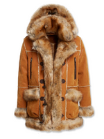 JC Kid's Aspen Shearling Coat (Cognac)