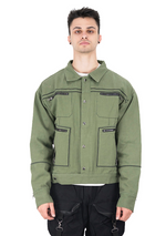 Molowo Denim Jacket (Olive Green)