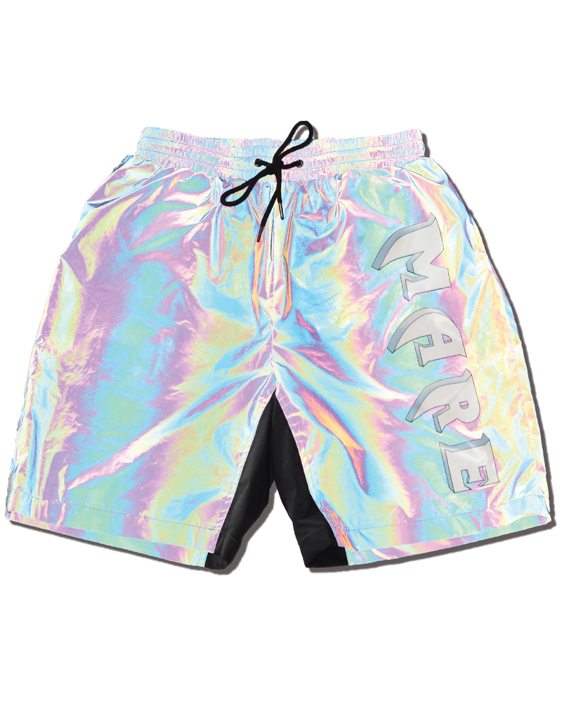 Mare Logo Reflective Shorts (Black Iridescent Reflective)