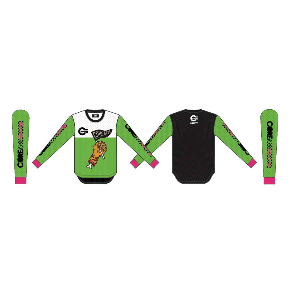 CORE '4eva' Racing Jersey (Lime/Black/Pink)