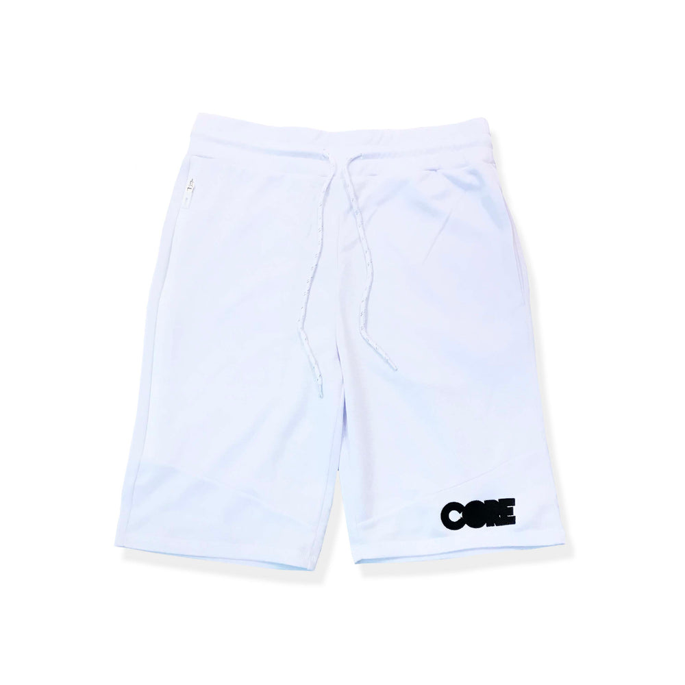 CORE Tech Fleece Shorts (White/Black)