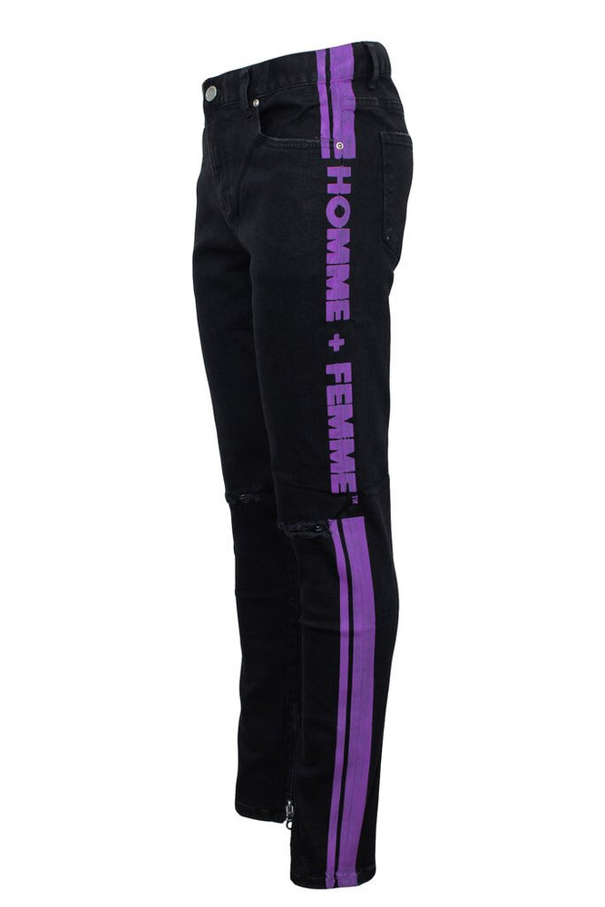 Homme + Femme Trademark Denim (Black and Purple)