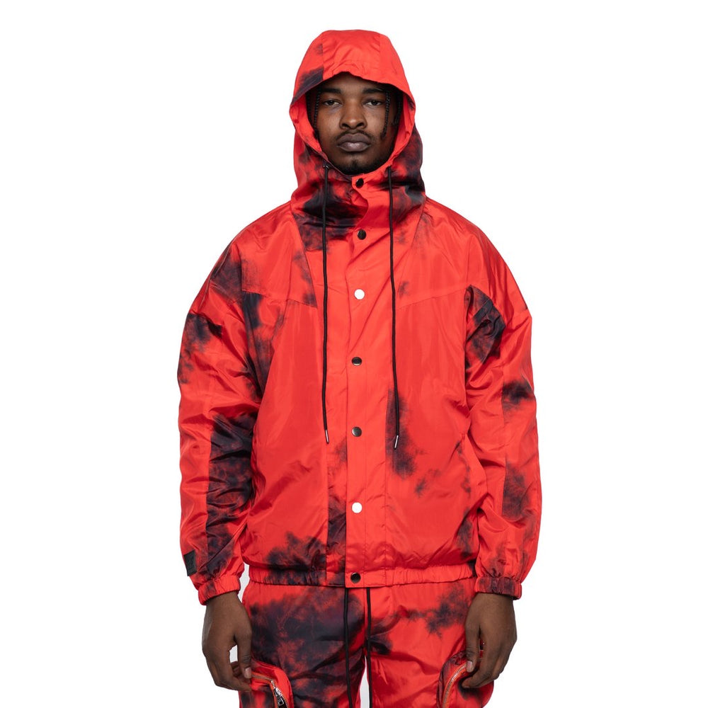 EPTM Tie-Dyed Nylon Jacket (Red)