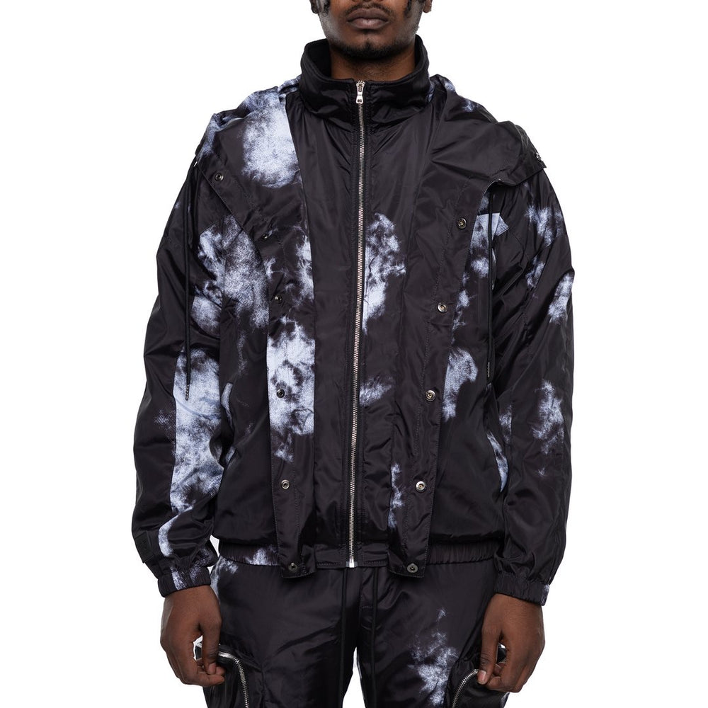 EPTM Tie-Dyed Nylon Jacket (Black)