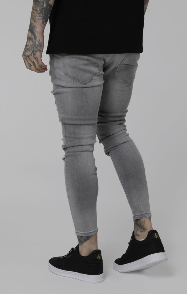 Sik Silk Distressed Skinny (Washed Grey)
