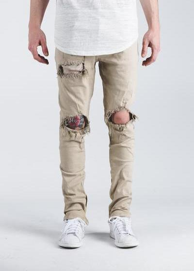 Crysp Pacific Denim (Khaki Ripped)