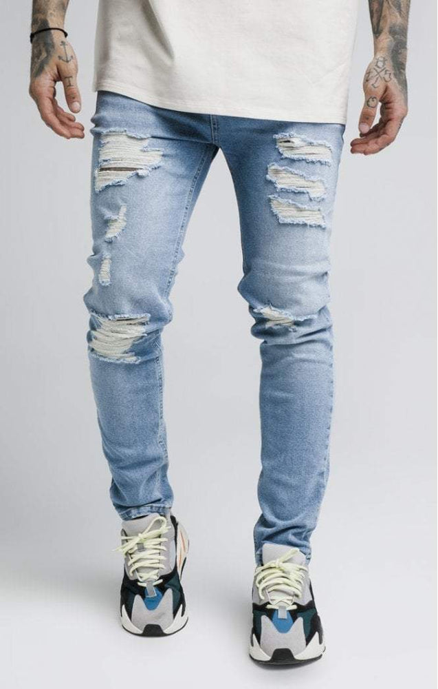 Sik Silk  Vintage Plus Denims - Bleached Blue