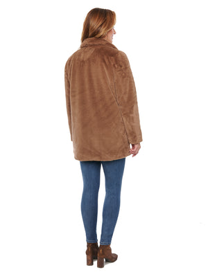 Faux Fur Wheat Long Coat