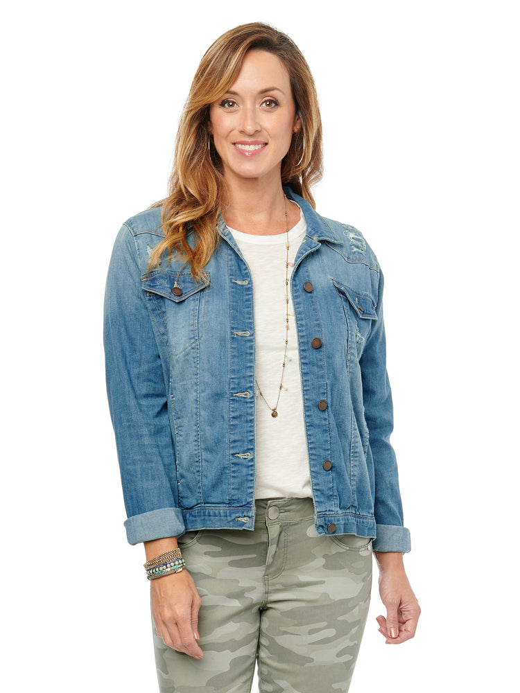 Western Light Blue Denim Jacket