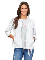 Western Denim Optic White Jacket