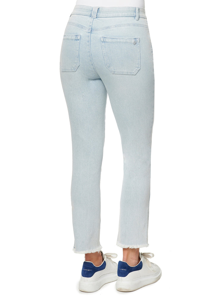 """Ab""solution High Rise Slim Straight Light Blue Jeans"