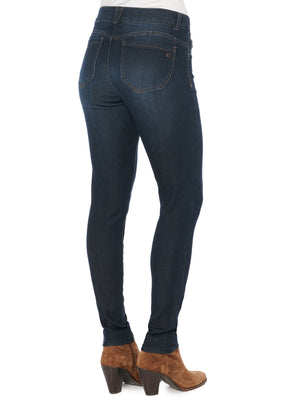 "Stretch Dark Indigo Denim ""Ab""solution Booty Lift butt lifting Jeggings booty lift Skinny Jeans"