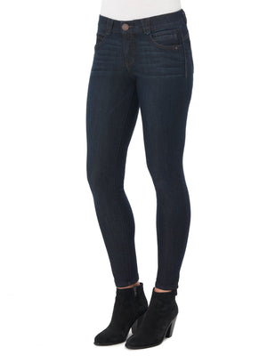 "Stretch Dark Indigo Denim ""Ab""solution Booty Lift Petite Size Jegging Skinny Jeans"