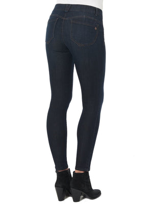 "Load image into Gallery viewer, Dark Indigo ""Ab""Solution® Booty Lift Jegging 32"" Long"