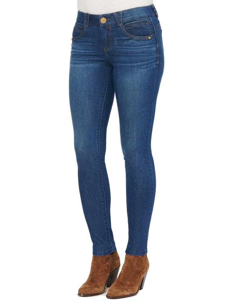 "Load image into Gallery viewer, Blue Denim Jegging ""Ab""solution® Booty Lift Jean"