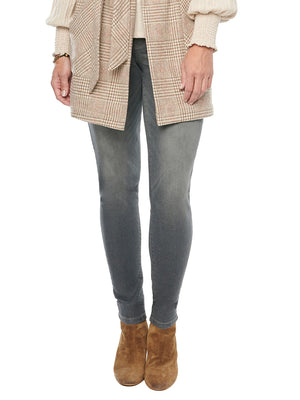 "Stretch Gray Denim ""Ab""solution Booty Lift Grey Colored Jegging Skinny Jeans"
