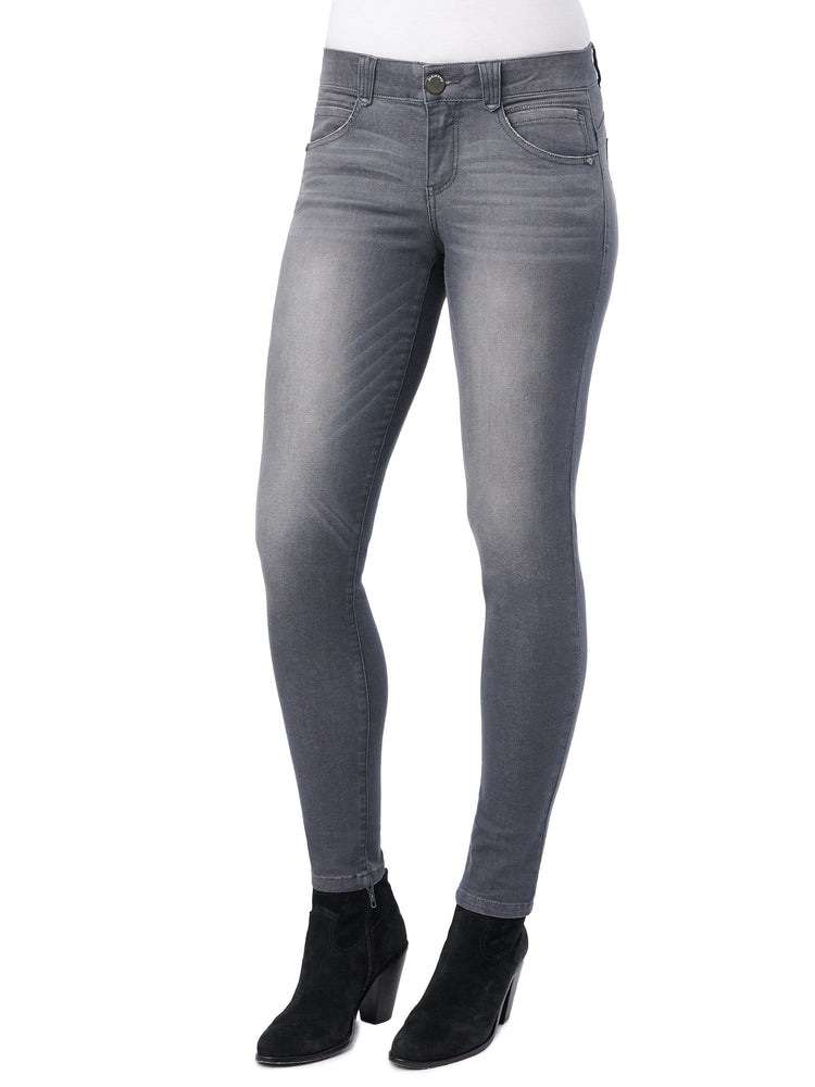 "Stretch Gray Denim ""Ab""solution® Jegging"