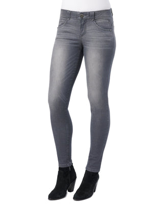 "absolution jeans for tall women 32"" long inseam gray stretch denim jegging leggings booty lift jeggings"